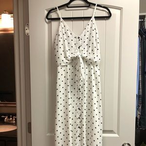 NWOT.  White/Black Polka Dot Dress.  Size S